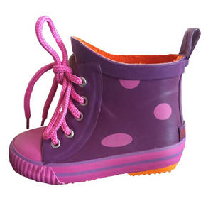 Wholesale rain boots: Kids Rain Boots with Lace
