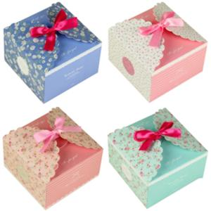 Wholesale Packaging Boxes: Folding Cake Boxes with Ribbon