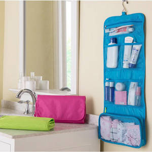 Wholesale makeup organizer: Hanging Organizer Bathroom Storage Travel Makeup Cosmetic and Toiletry Bag