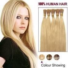 Wholesale stick hair: 22 Ash Blonde(#24) 100S Stick Tip Human Hair Extensions