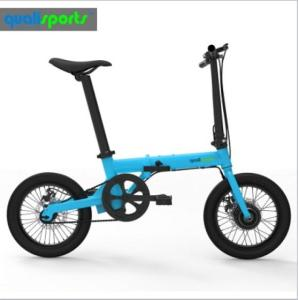 Wholesale 36v e bike: Automatic Cruise Lightweight Bicycle 14kg 16inch 250w 36v Electric Foldable E Bike