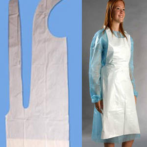 Wholesale hdpe apron: High Density Polyethylene (HDPE) Apron Short for the Disposable Apron or Poly Apron