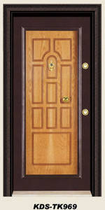 Wholesale exterior door: Turkey Steel Wooden Armored Door for Exterior Use
