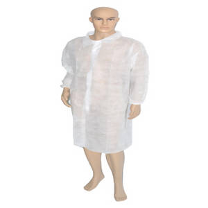 Wholesale coating: Disposable Nonwoven Protetive Lab Coat