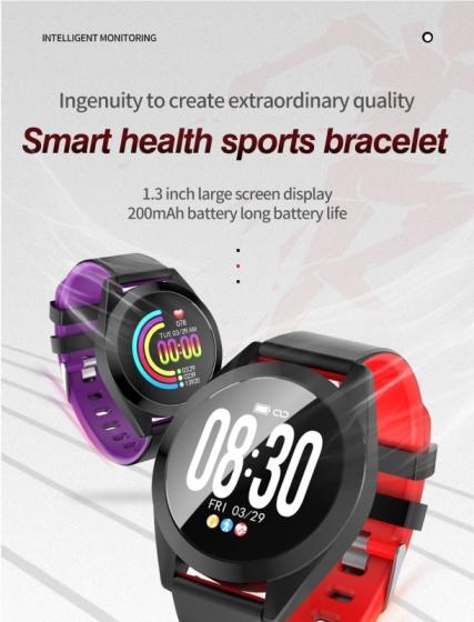 2019 Cheap Smartwatch Smart Bracelet with Heart Rate Monitor Blood Pressure IP67 Smart Watch Band