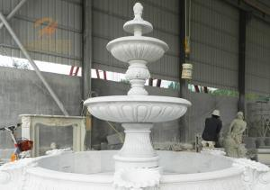 Wholesale feature fountain: Classical Outdoor Large Carving Marble Water Fountain