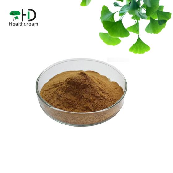 Factory Price 100% Natural Ginkgo Biloba Leaf Powder Extract Flavones 24%
