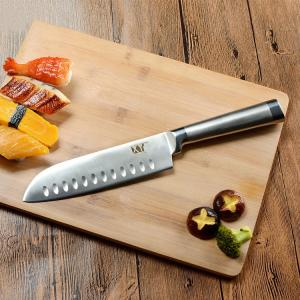 Wholesale Kitchen Accessories: Professional Stainless Steel Durable Blade Corrosion Resistant Cooking Knife  7 Inch Santuko Japanes