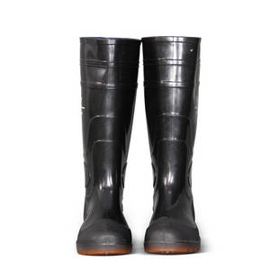 Wholesale rain boots: Black PVC Work Boots Safety Boots Rain Boots
