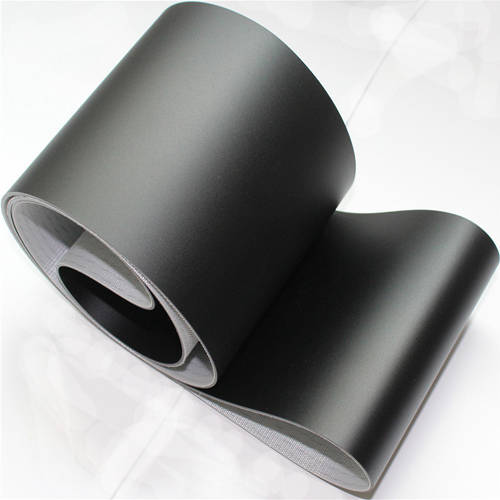 Sell 3mm Matt PVC Black Flat Conveyor Belt For Printing/Airport Logistic