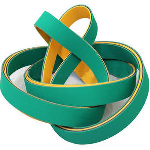 Wholesale green power: High Speed Nylon Sandwich Flat Power Rubber Transmission Belts Design Type Yellow/Green