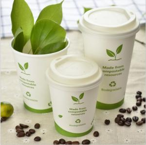 Wholesale coffee cup: Ecofriendly Natural PLA Drinking Coffee Cup Biodagrade Cup Starbucks Cup