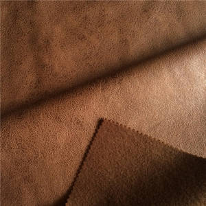Wholesale polyester sofa fabric: 100% Polyester Mirofiber Faux Suede Fabric for Sofa/Chair Cover Sythetic Leather