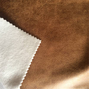 Wholesale microfiber fabric: Microfiber Faux Suede Sofa Fabric Bonded Brushed Fabric