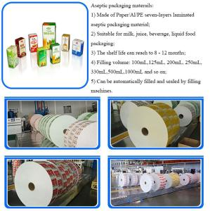 Wholesale Composite Packaging Materials: Laminated Material in Rolls for Juice and Milk