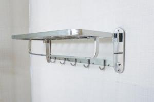 Wholesale towel: Towel Shelf Bathroom Towel Bar SUS304 Stainless Steel Towel Rack Bathrobe Hanger Foldable Wall Mount