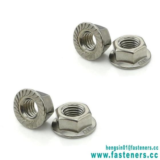 Factory Price Custom Stainless Steel 304 DIN6923 Hex Flange Nuts