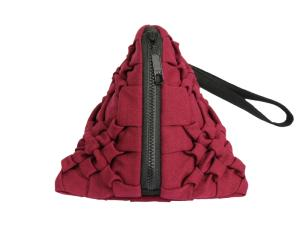 Wholesale fastener: Coin Bags Pyramid Form with Zip Fastening On Top Spring Floral Design Pouch Bags