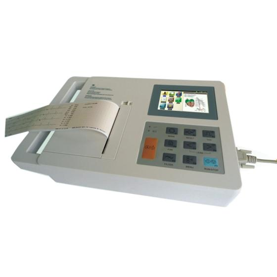 3 Channel ECG Electrocardiograph Machine with 4.3 Inch Touch Screen