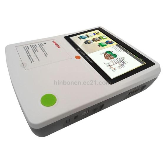 3 Channel ECG Electrocardiograph Machine with 7 Inch Touch Screen