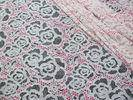 Wholesale wholesale brand garment: White Cotton Polyester Lace Fabric Rose Print For Lingerie / Bra(CY-DK0033)