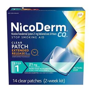 Wholesale Tobacco: NicoDerm CQ Patch, Clear, Step 1 To Quit Smoking, 21mg, 14 Count
