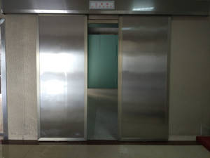Wholesale radiation protection: X-ray Room Stainless Steel Lead Free Automatic Sliding Double Leaf Radiation Protective Door