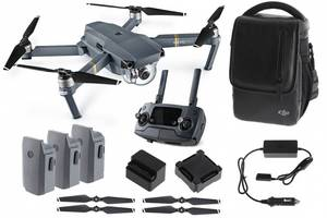 Wholesale battery: DJI Mavic PRO FLY MORE COMBO W/ Remote, 3 Batteries, 16gb MicroSD, Charging Hub, Power Bank Adapter