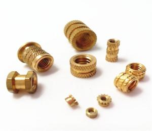 Wholesale threading inserts: Insertion Knurled Round Nuts Thru Threaded Inserts Brass Insert Nut