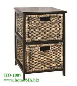 Wholesale baskets: Water Hyacinth Cabinet 2 Drawers Home Basket