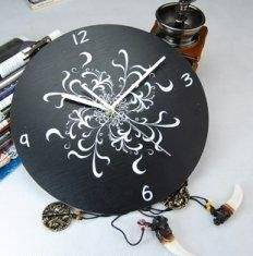 Wholesale Hot Water Bottles: Black Acrylic Art Contemporary Wall Clocks LY-013