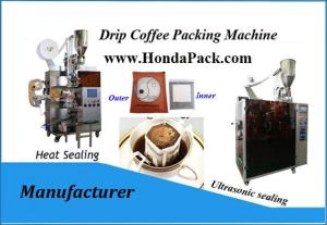 Wholesale envelope: Drip Coffee Bag Filling Machine with Outer Envelope