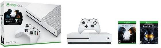 video game: Sell Xbox One S 500GB Video Game Console - Halo Collection Bundle