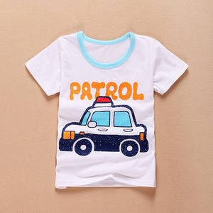 Wholesale Children's T-Shirts: 100% Cotton Cartoon T-shirts for Child-HFCT001