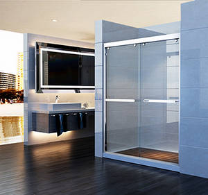 Wholesale Shower Screens & Doors: 304 SUS Popular Clear Tempered Glass Sliding Shower Screen