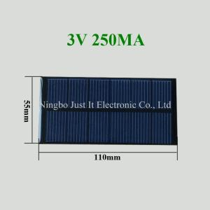Wholesale resin panel: 3V 250mA 0.75W 110x55mm Epoxy Resin Mini Solar Panel