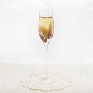 Wholesale glass craft: Hand Craft Glass Blown Floral Champagne Glass Champagne Flute