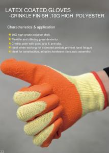 Wholesale latex glove: 10-PIN Latex Wrinkle Gloves