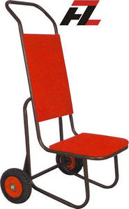 Wholesale hotel chair: Hotel Black Powder Coated Metal Chair Hand Trucks-Banquet Chair Hand Truck