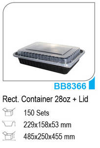Wholesale biodegradable tray: Black Base Containers