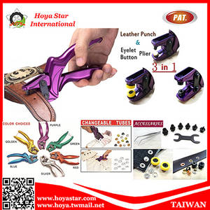 Wholesale Pliers: Taiwan Made 3 in 1 Multi-funciton Leather Punch & Eyelet & Button Plier