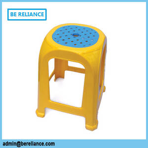Wholesale Stools & Ottomans: Double Color Plastic Chairs Dining Stackable Stool