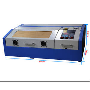 Wholesale Laser Equipment: Mini Desktop 40W CO2 Wood Acrylic Leather Laser Engraving Cutting Machine