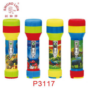Wholesale led factory light: Factory Price SWORD LION Brand 2*D Dry Battery Powered Hand Plastic LED Flashlight Torch Light