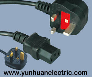 Wholesale bsi: UK Power Cord,AC Mains Power Lead Cable with BSI Certified