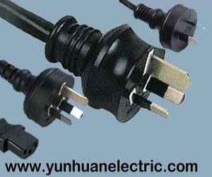Wholesale ac cable: Australia SAA AC Mains Power Cord Lead,Plug,Cable Lead Wire