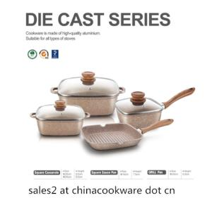 Wholesale handle wok: Die Cast Series Cookware Set