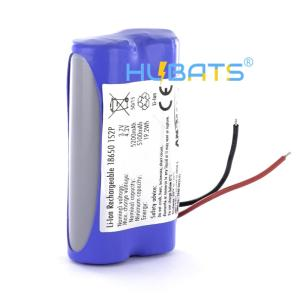 Wholesale rechargeable 18650: Hubats Li-ion 18650 1S2P 3.7V  5200mAh Rechargeable Battery Pack for GPS Receiver
