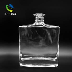 Wholesale vodka: China Manufacturer New Products High Flint Customized Whiskey Vodka Glass Drinking Bottle