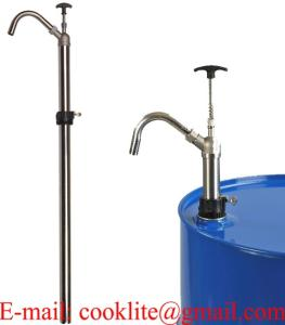 Wholesale vertical sealer: Stainless Steel Chemical Resistant Piston Hand Operated Drum Pump - Vertical Lift Action